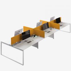 BENCH SQUARE - Sistema operativo a postazione multipla Frezza con gamba ad anello